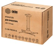 Кронштейн для проектора Cactus CS-VM-PR05M-AL серебристый макс.10кг настенный и потолочный поворот и наклон