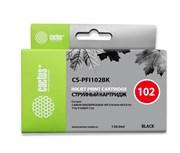 Струйный картридж Cactus CS-PFI102BK (PFI-102Bk) черный для Canon ImagePrograf iPF500, iPF510, iPF510 Plus, iPF600, iPF605, iPF610, iPF650, iPF655, iPF700, iPF710, iPF750, iPF760 MFP M40, iPF765, iPF765 MFP, LP17, LP24 (130 мл)