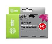 Струйный картридж Cactus CS-PFI102M (PFI-102M) пурпурный для Canon ImagePrograf iPF500, iPF510, iPF510 Plus, iPF600, iPF605, iPF610, iPF650, iPF655, iPF700, iPF710, iPF720, iPF750, iPF760 MFP M40, iPF765, LP17, LP24 (130 мл)