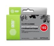 Картридж струйный Cactus CS-PFI102MBK черный матовый (130мл) для Canon iPF500/iPF600/iPF700/ MFP M40/iPF765/LP17/LP24