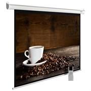"""Экран Cactus MotoExpert CS-PSME-300x300-WT 160"""" 1:1 настенно-потолочный рулонный белый (моторизованный привод)."""