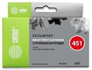 Струйный картридж Cactus CS-CLI451GY (6527B001) серый для Canon Pixma iP8740, MG6340, MG6440, MG6640, MG7140, MG7540 (130 стр.)