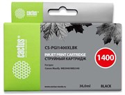 Струйный картридж Cactus CS-PGI1400XLBK (PGI-1400XL BK) черный для Canon MAXIFY MB2040, MB2140, MB2340, MB2740 (36 мл)