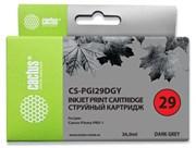 Струйный картридж Cactus CS-PGI29DGY (4870B001) темно-серый для Canon Pixma PRO-1 (710 стр.)