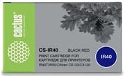 Картридж ленточный Cactus CS-IR40 черный, красный для Citizen IR40T, IR50, CX123, CX120