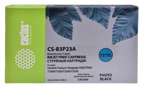 Струйный картридж Cactus CS-B3P23A (HP 727XL) фото черный увеличенной емкости для HP DesignJet T920 ePrinter (CR354A), T930, T1500 ePrinter (CR356A), T1500 PostScript (CR357A), T1530, T2500 eMFP (CR358A), T2530 (130 мл.)