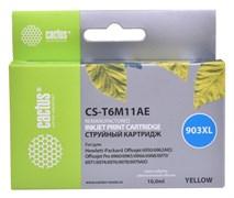 Cтруйный картридж Cactus CS-T6M11AE (HP 903XL) желтый увеличенной емкости для HP OfficeJet 6950 (P4C78A), 6960 Pro (J7K33A), 6970 Pro (825 стр.)