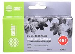 Струйный картридж Cactus CS-CLI481XXLBK (CLI-481BK XXL) черный для Canon Pixma TR7540, TR8540, TS6140, TS8140, TS9140, TS704 (12 мл)