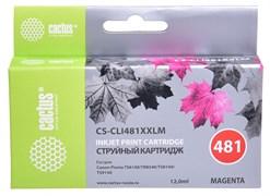 Струйный картридж Cactus CS-CLI481XXLM (CLI-481M XXL) пурпурный для Canon Pixma TR7540, TR8540, TS6140, TS8140, TS9140, TS704 (12 мл)