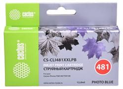 Струйный картридж Cactus CS-CLI481XXLPB (CLI-481C XXL) фото голубой для Canon Pixma TS8140, TS9140 (12 мл)