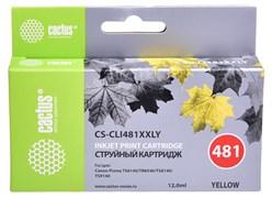 Струйный картридж Cactus CS-CLI481XXLY (CLI-481Y XXL) желтый для Canon Pixma TR7540, TR8540, TS6140, TS8140, TS9140, TS704 (12 мл)
