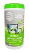 Салфетки Cactus CS-1001PE для экранов и оптики туба 100 шт влажных