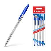 Ручка шариковая ErichKrause R-301 Classic Stick, цвет чернил синий (4 шт.)