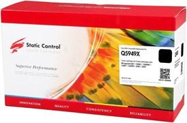 Картридж лазерный Static Control 002-01-S5949X (Q5949X) черный увеличенной емкости для HP LJ 1320, 3390, 3392 (6'000 стр.)