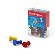 Кнопки силовые ErichKrause цветные (пластиковая коробка 100 шт.)