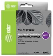 Струйный картридж Cactus CS-LC227XLBK (LC227XL BK) черный для Brother DCP-J4120dw, MFC-J4420dw, J4620dw (30 мл)