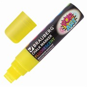 """Меловой маркер Brauberg """"POP-ART"""" желтый, сухостираемый, для гладких поверхностей, 15 мм"""