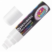 """Меловой маркер Brauberg """"POP-ART"""" белый, сухостираемый, для гладких поверхностей, 15 мм"""