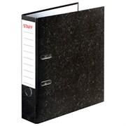 """Папка-регистратор Staff """"Basic"""" с мраморным покрытием, 70 мм, черный корешок"""