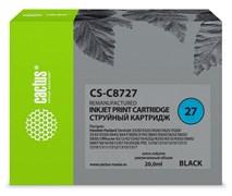 Струйный картридж Cactus CS-C8727 (HP 27) черный для HP DeskJet 3320, 3420, 3520, 3535, 3550, 3645, 3650, 3740, 3840, 5150, OfficeJet 4211, 4251, 4311, 4352, 5600, 5610, PSC 1310, 1340, 1350 (20 мл)