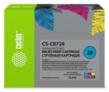 Струйный картридж Cactus CS-C8728 (HP 28) цветной для HP DeskJet 3320, 3420, 3520, 3535, 3550, 3645, 3650, 3740, 3840, 5150, Fax 1240, OfficeJet 4105, 4110, 4211, 4251, 5500, 5510, PSC 1110, 1200, 1210, 1310, 1340, 1350 (18 мл)