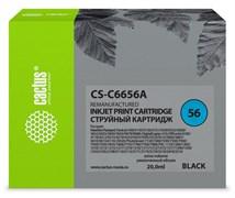Струйный картридж Cactus CS-C6656A (HP 56) черный для HP DeskJet 450, 5150, 5650, 5850, 9680; OfficeJet 4110, 4215, 5510, 5610, 6110; PhotoSmart 7260, 7350, 7450, 7660, 7760, 7960; PSC 1110, 1210, 1315, 2110, 2210, 2410, 2510 (20 мл)