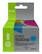 Струйный картридж Cactus CS-C8772 (HP 177) пурпурный для HP PhotoSmart 3100, 3210, 3213, 3310, 3313, C5183, C6100, C6183, C6200, C6283, C7183, C7200, C7280, C7283, C8183, D7100, D7160, D7163, D7300, D7363, D7463 (11,4 мл)