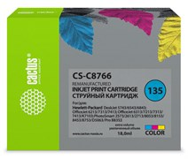 Струйный картридж Cactus CS-C8766 (HP 135) цветной для HP DeskJet 5740, 6540, 9800; OfficeJet 100, K7100; PhotoSmart 2570, 385, 475, 7850, 8050, 8100, 8700, С3100, С4100, D5060, PRO B8350; PSC 1503, 1510, 1600, 1610, 2350 (18 мл)