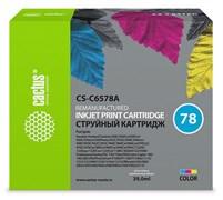 Струйный картридж Cactus CS-C6578A (HP 78XL) цветной увеличенной емкости для HP DeskJet 916, 920, 940, 1180, 1220, 3810, 9300; OfficeJet 5105, 5110, G85, K80, V45; PhotoSmart 1100, 1215, 1315, P1100; PSC 720, 950; Fax 1220 (39 мл)