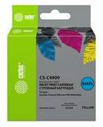 Струйный картридж Cactus CS-C4909 (HP 940XL) желтый увеличенной емкости для HP OfficeJet 8000 Pro, 8500, 8500a, 8500a Plus (30 мл)