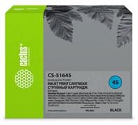 Струйный картридж Cactus CS-51645 (HP 45) черный для HP Color Copier 110, 290; DesignJet 750; DeskJet 930, 950, 970, 980, 990, 1000, 1100, 1180, 1220, 1280, 1600, 6122; OfficeJet g55, k60; PhotoSmart 1215, 1315, p1000; Fax-1220 (44 мл)