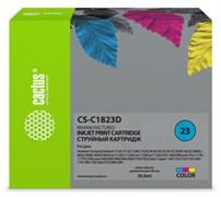 Струйный картридж Cactus CS-C1823D (HP 23) цветной для HP Color Copier 140, 150, 160, 170, 180, 190, 260, 270, 280; DeskJet 700, 710, 720, 810, 830, 880, 890, 895, 1120; OfficeJet 1170, 1175, r40, r45, r60, r65, r80, t45, t65; PSC 500 (39 мл)