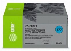 Струйный картридж Cactus CS-C8721 (HP 177) черный для HP PhotoSmart 3100, 3210, 3213, 3310, 3313, C5183, C6100, C6183, C6200, C6283, C7183, C7200, C7280, C7283, C8183, D7100, D7160, D7163, D7300, D7363, D7463 (26 мл)