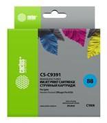 Струйный картридж Cactus CS-C9391 (HP 88XL) голубой увеличенной емкости для HP OfficeJet K5300 Pro, K5400 Pro, K550 Pro, K8600 Pro, L7400 Pro, L7480 Pro, L7500 Pro, L7580 Pro, L7590 Pro, L7680 Pro, L7780 Pro (29 мл)