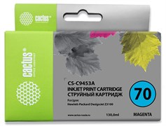 Струйный картридж Cactus CS-C9453A (HP 70) пурпурный для HP DesignJet Z2100, Z2100gp, Z3100, Z3100gp, Z3100ps gp, Z3200, Z3200ps, Z5200, Z5400 ePrinter, Z5400ps PostScript (130 мл)