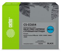 Струйный картридж Cactus CS-CC654 (HP 901XL) черный увеличенной емкости для HP OfficeJet 4500 series, 4500 G540a, 4500 G540g, 4500 G540n, J4524, J4535, J4580, J4624, J4660, J4680 (18 мл)