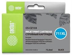 Струйный картридж Cactus CS-CZ133 (HP 711) черный увеличенной емкости для HP DesignJet T120, T520 A0, T520 A1 (73 мл)