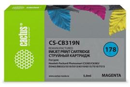 Струйный картридж Cactus CS-CB319N (HP 178) пурпурный для HP DeskJet 3070A B611, 3522; PhotoSmart 5510 B111, 5520, 7520, B010, B110, B209, B210, B8553, C309, C310, C410, C5300, C5380, C5383, C6383, D5460, D5463 (5 мл)