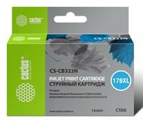 Струйный картридж Cactus CS-CB323N (HP 178XL) голубой увеличенной емкости для HP DeskJet 3070A B611, 3522; PhotoSmart 5510 B111, 5520, 7520, B010, B110, B209, B210, B8553, C309, C310, C410, C5300, C5380, C5383, D5460 (14,6 мл)