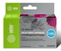 Струйный картридж Cactus CS-CB324N (HP 178XL) пурпурный увеличенной емкости для HP DeskJet 3070A B611, 3522; PhotoSmart 5510 B111, 5520, 7520, B010, B110, B209, B210, B8553, C310, C410, C5300, C5380, C6383, D5460 (14,6 мл)