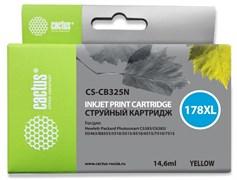 Струйный картридж Cactus CS-CB325N (HP 178XL) желтый увеличенной емкости для HP DeskJet 3070A B611, 3522; PhotoSmart 5510 B111, 5520, 7520, B010, B110, B209, B210, B8553, C309, C310, C410, C5300, C5380, C6383, D5460 (14,6 мл)