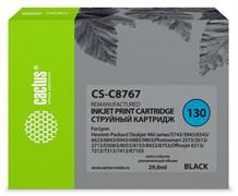 Струйный картридж Cactus CS-C8767 (HP 130) черный для HP DeskJet 5740, 5900, 5940, 6540, 6940, 6980, 9800; OfficeJet K7100; PhotoSmart 2570, 2610, 2710, 8050, 8100, 8700, D5060, PRO B8350; PSC 2610, 2710 (29 мл)
