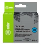 Струйный картридж Cactus CS-CB335 (HP 140) черный для HP DeskJet D4263, D4363; OfficeJet J5783, J6413; PhotoSmart C4200, C4225, C4240, C4250, C4270, C4280, C4343, C4380, C4473, C4483, C4583, C5200, C5280, D5300, D5360 (17 мл)