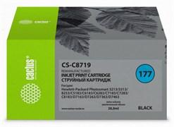 Струйный картридж Cactus CS-C8719 (HP 177XL) черный увеличенной емкости для HP PhotoSmart 3100, 3210, 3213, 3310, 3313, C5183, C6100, C6183, C6200, C6283, C7183, C7200, C7280, C7283, C8183, D7100, D7160, D7300, D7363, D7463 (38 мл)