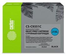 Струйный картридж Cactus CS-C9351C (HP 21XL) черный увеличенной емкости для HP DeskJet 3920, 3940, D1300, D1400, D1560, D2360, D2400, F300, F2100, F2280, F2290, F4172; OfficeJet 1410, 4300, 4352, J3680, J5520; PSC 1400, 1410 (20 мл)