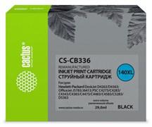 Струйный картридж Cactus CS-CB336 (HP 140XL) черный увеличенной емкости для HP DeskJet D4263, D4363; OfficeJet J5730, J5780, J5785, J5790, J6415, J6450; PhotoSmart C4200, C4225, C4240, C4250, C4270, C4280, C4343, C4380 (29 мл)