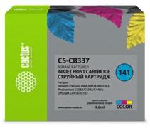 Струйный картридж Cactus CS-CB337 (HP 141) цветной для HP DeskJet D4263, D4363; OfficeJet J5783, J6413; PhotoSmart C4200, C4225, C4240, C4250, C4270, C4280, C4343, C4380, C4473, C4483, C4583, C5200, C5280, D5300, D5360 (9 мл)