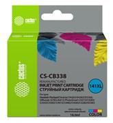 Струйный картридж Cactus CS-CB338 (HP 141XL) цветной увеличенной емкости для HP DeskJet D4263, D4363; OfficeJet J5783, J6413; PhotoSmart C4200, C4225, C4250, C4270, C4343, C4380, C4473, C4483, C4583, C5200, C5280, D5300 (18 мл)