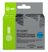 Струйный картридж Cactus CS-CC641 (HP 121XL) черный увеличенной емкости для HP DeskJet D1663, D2500, D2563, D2663, D5563, F2423, F2483, F2493, F4213, F4275, F4280, F4283, F4583; ENVY 110; PhotoSmart C4683, C4783 (18 мл)