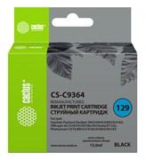 Струйный картридж Cactus CS-C9364 (HP 129) черный для HP DeskJet 5900, 5940, 6900, 6940, 6980, D4100, D4160; OfficeJet 6300, H470, K7100; PhotoSmart 2500, 2570, 8000, 8030, 8049, 8050, C4100, C4140, C4170, C4190, D5060, D5100 (15 мл)